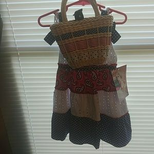 Nannette Dresses - 3T red white and blue dot & Paisley dess